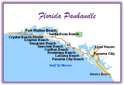 Map Panhandle Florida Beaches